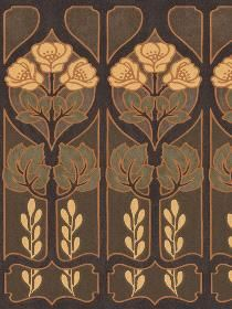 art nouveau design border--maybe on the hem of a dress with a plain bodice and wide ruched waistband?