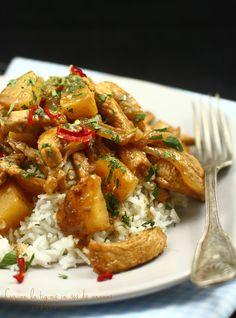 curcan la tigaie in sos de ananas-2 Kung Pao Chicken, Cooking, Ethnic Recipes, Food, Kitchen, Essen, Meals, Yemek, Brewing