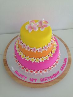 tropical birthday cakes - Google Search