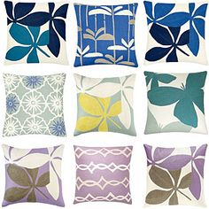 judy ross chain stitch cushion collection
