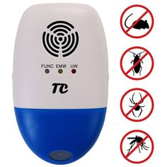 Ultrasonic Pest Repeller Against Mouse, Pest Control for Roaches, TCJOY Electronic Pest Repellent Plug In Multi-functional Intelligent, Indoor & Outdoor use, Insects Cockroach Rodents Fly Ants Spiders - http://ratezon.com/product/ultrasonic-pest-repeller-mouse-pest-control-roaches-tcjoy-electronic-pest-repellent-plug-multi-functional-intelligent-indoor-outdoor-use-insects-cockroach-rodents-fly-ants-spiders/