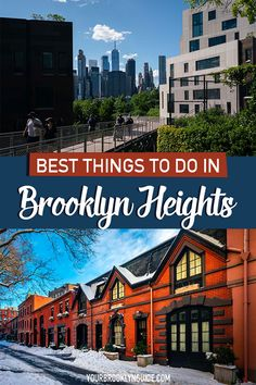 THINGS TO DO IN BROOKLYN HEIGHTS NYC | what to do in Brooklyn Heights | Brooklyn Heights Promenade | Brooklyn Bridge Park | NYC views | places in NYC with the best view | nyc skyline view locations | best photo spots in NYC | charming places in NYC | things to do in Brooklyn | Things to do in NYC | New York City neighborhoods | NYC neighborhoods | Brooklyn neighborhoods | pretty streets in Brooklyn | pretty streets in NYC | DUMBO Brookyln #nyc #brooklyn #brooklynheights #nycbucketlist Brooklyn Bridge Park, Brooklyn Heights, Nyc Hotels, City Restaurants, Brooklyn Things To Do, Nyc Bucket List, Brooklyn Neighborhoods, Nyc Skyline, New York City Travel