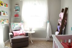 Project Nursery - Gray and Coral Nursery