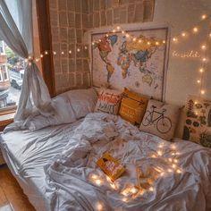 42 Cozy Halloween Bedroom Decorating Ideas Cozy Bedroom Ideas Bedroom cozy decorating Halloween Ideas - New Site Cute Bedroom Ideas, Cute Room Decor, Room Ideas Bedroom, Diy Bedroom Decor, Bedroom Inspo, Bohemian Bedroom Design, Bed Room, Bedroom Kids, Bedroom Designs