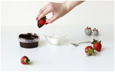 Strawberries Dipped in Chocolate & Coconut Shavings — LilacChocolate