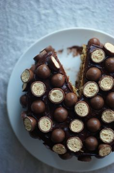 Malteser Layer Cake. via Poires au Chocolat