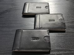 Oh so slim while still keeping the bi-fold wallet look and essence. Be Different!  mens wallet, leather wallet, leather, wallet, elegant, slim wallet, black and white, unique design, fashion, mens fashion, outfit, executive, businessman, timeless, classic, sexy, men with style, standout, shopping, be different, mens accessories, mens apparel,