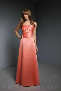 If I was to do the orange and peach I would have my bridesmaids where the light orange and my maid of honor wear this or vise versa