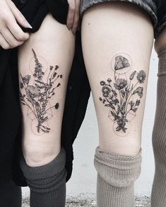 coolTop Geometric Tattoo - Matching Floral Geometric Tattoos... Check more at http://tattooviral.com/tattoo-designs/geometric-designs/geometric-tattoo-matching-floral-geometric-tattoos/