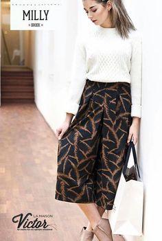 Milly culottes pattern in La Maison Victor Jan/Feb 2016