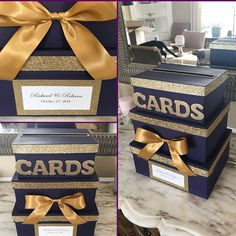 Items similar to 2020 Graduation Card Box, Card Holder, Letter Box, Money Holder on Etsy Grad Party Decorations, Graduation Party Centerpieces, Graduation Party Decor, Grad Parties, Graduation Ideas, Graduation Card Boxes, High School Graduation Gifts, Business Ideas, Business Cards