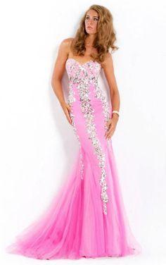 Pink Mermaid Floor-length Sweetheart Dress Robes Rose Pâle af5e3f1bacf