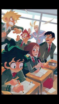 Yaoi, Fluff, Ships, AUs, and crossovers of BNHA pics! (None of the fanarts belong to me! They belong to their rightful owners!) Ranked: - Shota - Deku - Shoto - Katsuki Bakugou - All might - Ships [Jun - Bnha my hero [Jun - bokunoheroaca. Boku No Hero Academia, My Hero Academia Memes, Hero Academia Characters, My Hero Academia Manga, Manga Anime, Anime Art, Boku No Hero Uraraka, Bakugou And Uraraka, Pinterest Instagram
