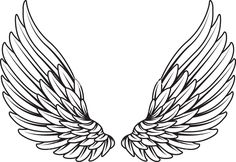 Images of wings tattoo drawings - Simbolos Tattoo, Tattoo Hals, Back Tattoo, Body Art Tattoos, Tattoo Drawings, Small Tattoos, Small Angel Wing Tattoos, Eagle Wing Tattoos, Sleeve Tattoos