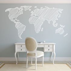 Map Wall Decal. Wall Sticker. Removable by decoryourwall on Etsy