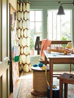 large table & cork board