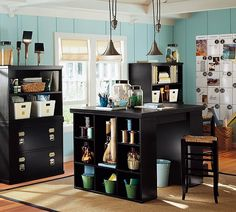 Shop Pottery Barn for home office furniture collections featuring desks, cabinets and storage solutions. Find office furniture perfect for creating a workspace at home. Craft Desk, Craft Room Storage, Room Organization, Craft Rooms, Craft Space, Scrapbook Organization, Paper Storage, Storage Ideas, Diy Desk