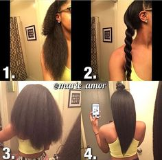 Long natural hair how to straighten Blow Dry Natural Hair, Pelo Natural, Long Natural Hair, Natural Hair Growth, Natural Hair Journey, Natural Hair Blowout, Natural Haircare, Curly Hair Styles, Natural Hair Styles