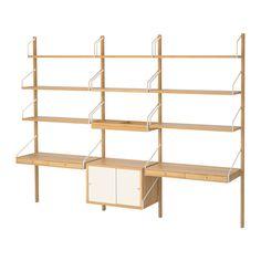 SVALNÄS Wandwerkplekcombinatie IKEA Met een ruime opbergoplossing heeft alles zijn eigen plek en is alles makkelijk weer terug te vinden.