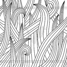 Black-white drawing of grass. - vector image. ›