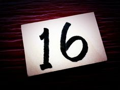 images of number 16   Number Sixteen