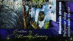 """""""Painted"""" polymer clay notebook journal cover how it was made video"""