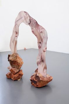 """'This biological material, so to speak, forms the central motif for Rachel de Joode's first solo exhibition in Europe. In """"The Molten Inner Core,"""" de Joode organically links two- and three-dimensional media into a single web of interconnections. Contemporary Sculpture, Contemporary Art, Plastic Art, Art Object, Art Plastique, Installation Art, Art Installations, Sculpture Art, Photo Sculpture"""