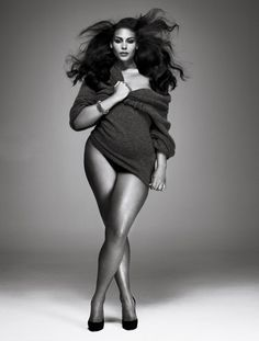 How drop dead gorgeous is SHE?! And she isn't a size 0, 2, 4, 6, 8, or 10! Goal #2 body
