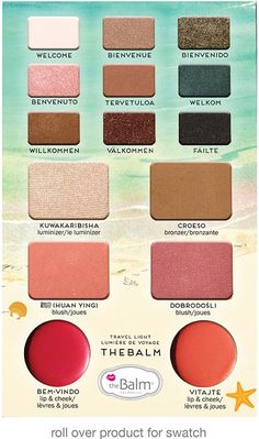 Balm Voyage Vol. 2 Colors - This looks so awesome! I love the fun colors and very appropriate for the summer!