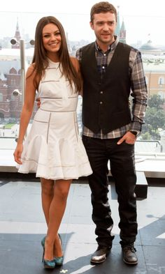 Mila Kunis And Justin Timberlake At A 'Friends With Benefits' Photocall, 2011