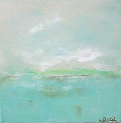 lovely abstract seascape painting by lindadonohue