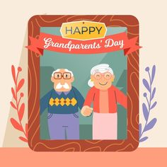 National Grandparents Day, Happy Grandparents Day, Vector Free, How To Draw Hands, Fictional Characters, Hand Reference, Fantasy Characters