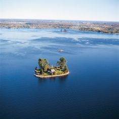 Basswood Island, USA - Photo from helicopter