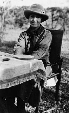 Karen Blixen. Her book 'Out of Africa' often called the best travel book ever written. Brought up and lived in South Africa where she had many adventures.