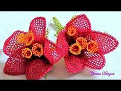 Tespih başlığı İğne oyaları  Lilyum Çiçeği  Anlatımlı video - YouTube