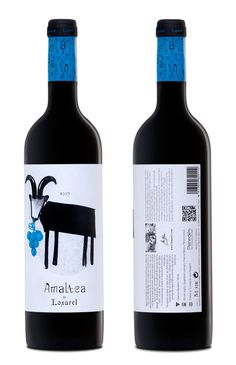Amaltea, the biodynamic.    Within the practice of biodynamic farming, Loxarel integrates herds of goats in controlling weeds in the vineyard.  Amaltea, represented by the goat nymph who nursed the god Zeus, according to Greek mythology associated with fertile land and abundance.  The concepts of the goat, the horn (the main element of the preparation 500), and the constellations are the basis of biodynamic agriculture and the characteristic of this young coupage.