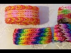 ▶ 4 row fishtail rainbow loom bracelet - YouTube