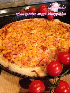Pizza – sonkás kukoricás     Sylvia Gasztro Angyal