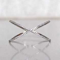 X-Factor Cubic Zirconia Bangle Cuff in Silver #TheAlchemyShop