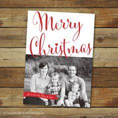 Merry Christmas card photo card holiday card  by saralukecreative, $16.00
