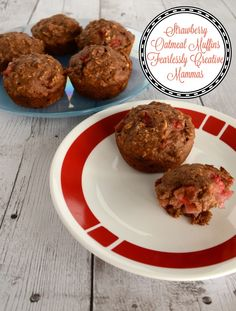 Strawberry Oatmeal Muffins with a touch of Carnation Breakfast ...