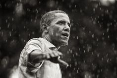 © Brooks Kraft. President Obama speaks in the rain during a campaign rally in Glen Allen, Va. July 14, 2012.