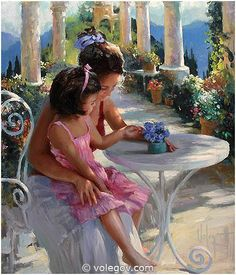 """Young Mom"" by Vladimir Volegov"