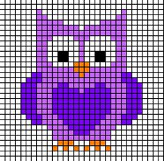 graphs perfect for Bobble, or your favorite grid crochet techniqueSimple graphs perfect for Bobble, or your favorite grid crochet technique Owls and Foxes and Coons-Oh My! Owl Perler Bead Pattern More Stitch Fiddle is an online crochet, . Cross Stitch Owl, Cross Stitch For Kids, Simple Cross Stitch, Cross Stitch Animals, Cross Stitch Charts, Cross Stitch Designs, Cross Stitching, Cross Stitch Embroidery, Cross Stitch Patterns