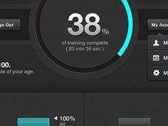 Dribbble - Training App by Jonathan Lochhead