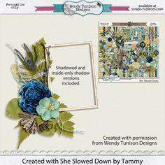 Cluster frame freebie made with She Slowed Down by Wendy Tunison Designs | craftytam.com #freebie