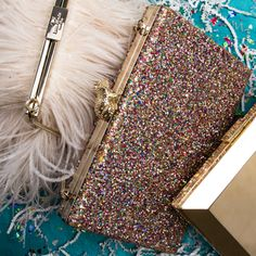 The Hottest Holiday Clutch Essentials We've paired covetable clutches from Kate Spade with touch-up essentials. There are plenty of options for every style. Prom Accessories, A Night To Remember, Prom Girl, Pitch Perfect, Senior Prom, Beauty Essentials, Clutch Purse, Clutches, Purses And Bags