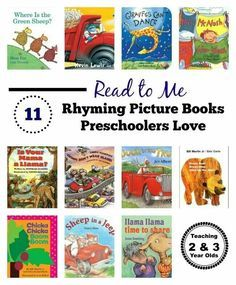 Rhyming Books for Preschoolers - An important part of early literacy! Teaching 2 and 3 Year Olds Rhyming Activities, Preschool Literacy, Preschool Books, Early Literacy, Book Activities, Kindergarten, Preschool Ideas, Petite Section, Toddler Books