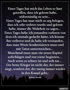 Sad Life, Love Life, Best Quotes Ever, Learn German, Meaningful Words, Wise Quotes, True Words, Positivity, Thoughts