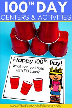 This resource contains math and literacy centers that are perfect for the 100th day of school in Kindergarten. There are 3 literacy, 3 math, and 6 extra no-prep activities that are sure to make your 100th day fun and filled with learning. Activities are hands-on, interactive, engaging and perfect for Kindergarten!